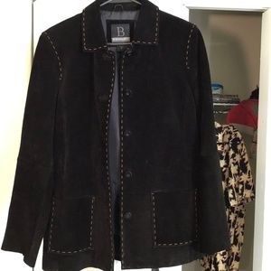 B by Bernardo suede leather jacket